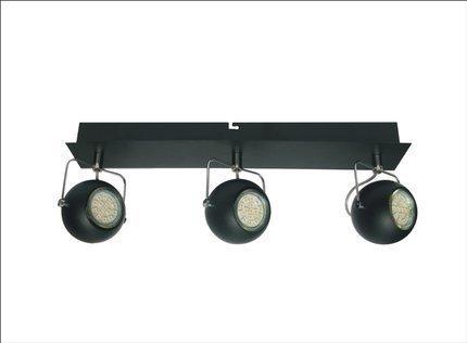 LAMPA ŚCIENNA  CANDELLUX TONY 93-25029 LISTWA  LED GU10 CZARNY MATOWY