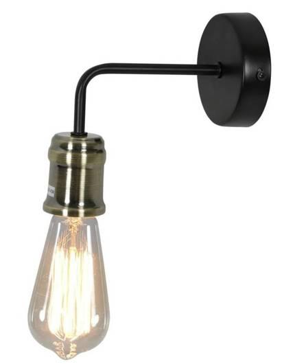 LAMPA ŚCIENNA KINKIET CANDELLUX GOLDIE 21-56160  E27 CZARNY+PATYNA
