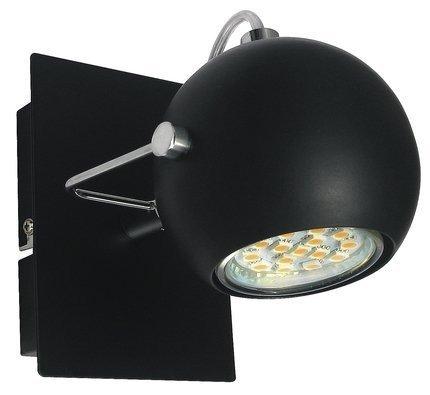 LAMPA ŚCIENNA KINKIET CANDELLUX TONY 91-25005  LED GU10 CZARNY MATOWY
