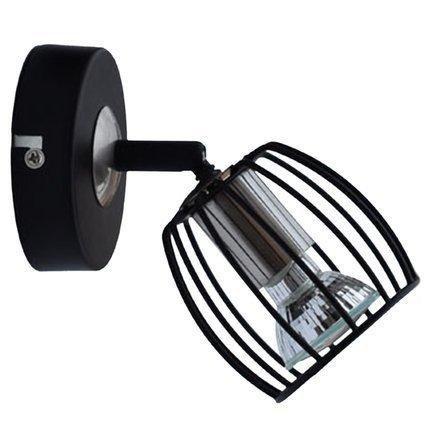 LAMPA ŚCIENNA KINKIET CANDELLUX ZONK 91-54319  LED GU10 CZARNY MATOWY + SATYNA NIKIEL