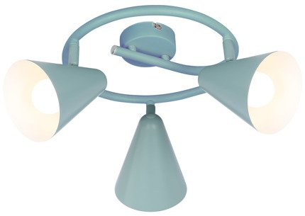 LAMPA SUFITOWA  CANDELLUX AMOR 98-63359 SPIRALA  E14 SZARY MAT