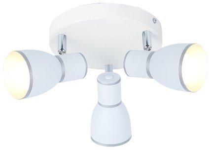LAMPA SUFITOWA  CANDELLUX FIDO 98-63397 PLAFON  E14 BIAŁY+CHROM