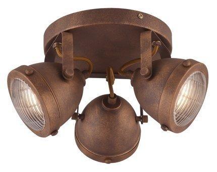 LAMPA SUFITOWA  CANDELLUX FRODO 98-71095 PLAFON  GU10 RDZAWY