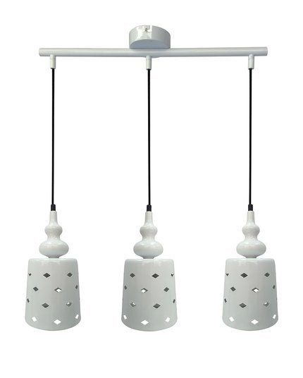 LAMPA SUFITOWA WISZĄCA CANDELLUX HAMP 33-51943  E27 BIAŁY