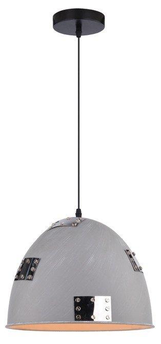 LAMPA SUFITOWA WISZĄCA CANDELLUX PATCH 31-43160   E27 SZARY + CHROMOWANY DEKOR