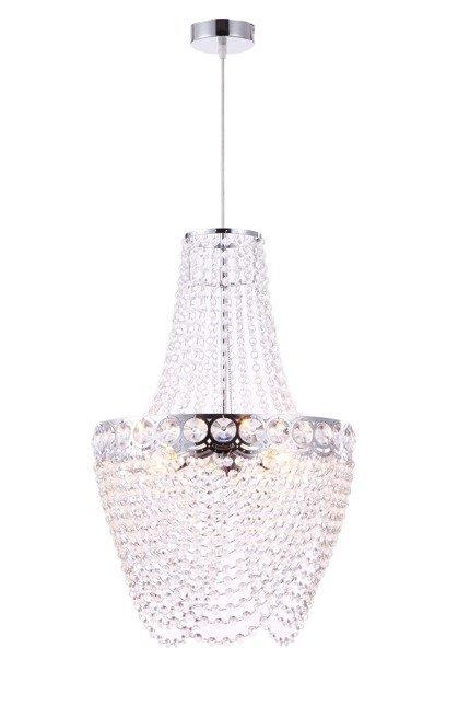 LAMPA SUFITOWA WISZĄCA CANDELLUX PERSEO 31-57495  E27 CHROM+KRYSZTAŁKI
