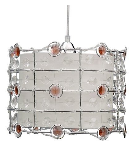 LAMPA SUFITOWA WISZĄCA CANDELLUX SENECA 31-02983   E27 AMBER