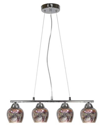 LAMPA SUFITOWA WISZĄCA CANDELLUX SIRIUS 34-59628  E27 CHROM 3D
