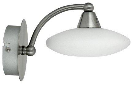 Lampa Ścienna Kinkiet Candellux Elisa 21-05857 G9 Satyna-Nikiel+Białe Szkło Promocja