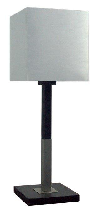 Lampa Stołowa Gabinetowa Candellux Favorita 41-25091 Duża E27 Drewno Z Abażurem Srebrnym 23X23H25
