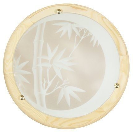 Lampa Sufitowa Candellux Bamboo 14-06653 Plafon Drewno Standard 2X60 W E27 Sosna