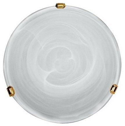 Lampa Sufitowa Candellux Duna 13-38718 Plafon Biały Uchwyt Mosiądz