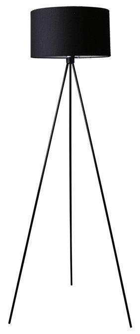 Lampa podłogowa trójnoga abażur czarny z tkaniny Triano Candellux 51-74041