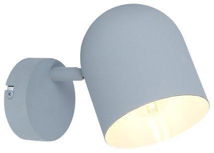 Lampa ścienna kinkiet 1X40W E27 szary mat AZURO 91-63205