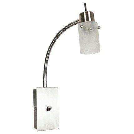 Lampa ścienna kinkiet na wysięgniku 1X40W G9 Nikiel mat FROZEN 91-22493