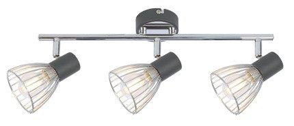 Lampa ścienna listwa 3X40W E14 czarny/chrom MODO 93-61539