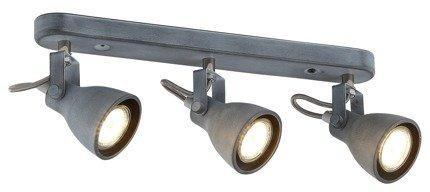 Lampa ścienna listwa 3X40W GU10 szary mat ASH 93-64301