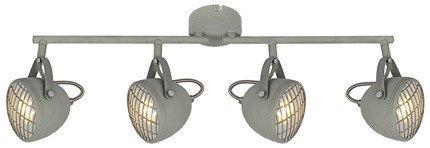 Lampa ścienna listwa 4X50W GU10 betonowy szary PENT 94-68071