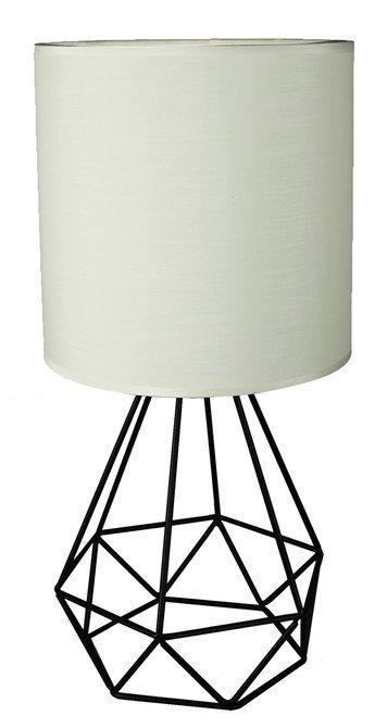 Lampa stołowa gabinetowa nocna biała druciana Graf Candellux 41-62925