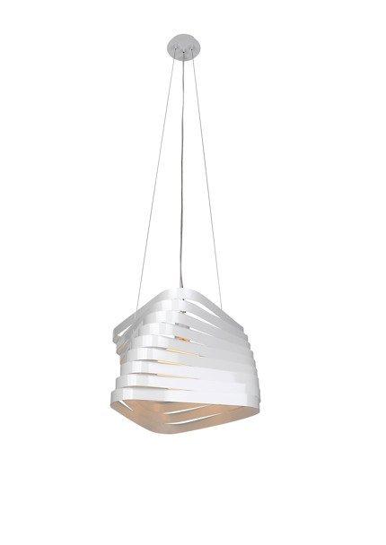 Lampa sufitowa 1X60W E27 wisząca biała BIZO 31-21581