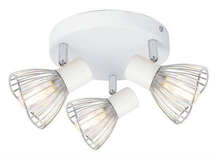 Lampa sufitowa plafon 3X40W E14 biały chrom FLY 98-61980