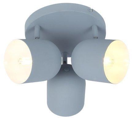 Lampa sufitowa plafon 3X40W E27 szary mat AZURO 98-63236