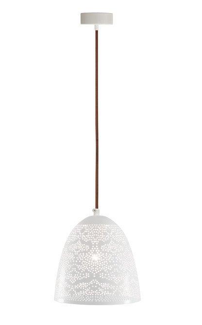 Lampa sufitowa wisząca 1X60W E27 ażurowy biały BENE 31-70340