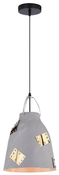 Lampa sufitowa wisząca 1X60W E27 szary + złoty PATCH 31-43269