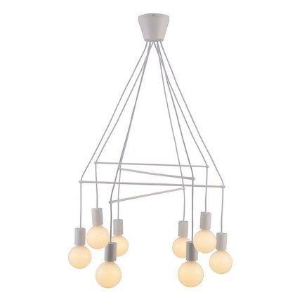 Lampa wisząca biała matowa 8x40W dwuobwodowa E27 Alto Candellux 38-70944