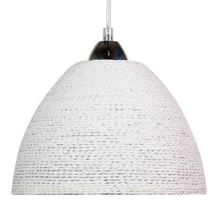 Lampa wisząca biała sznurkowa Braid 31-32751