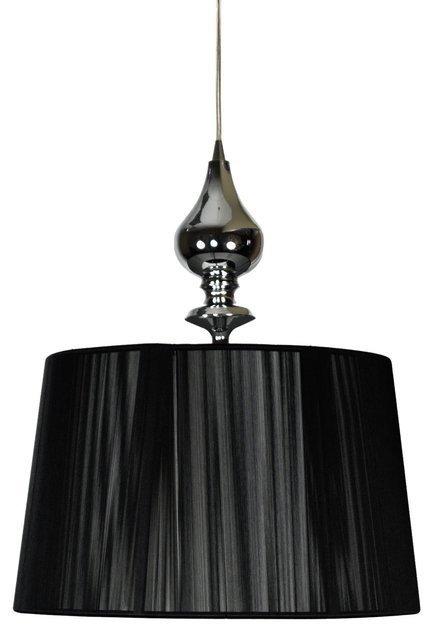 Lampa wisząca chromowa czarny abażur nitkowy Gillenia Candellux 31-21437