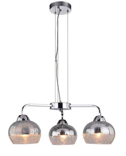 Lampa wisząca lustrzana chrom bite szkło 3x60W Cromina Candellux 33-56368