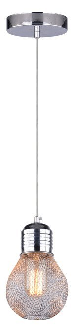 Lampa wisząca sufitowa chromowa druciany klosz E27 Gliva Candellux 31-58652