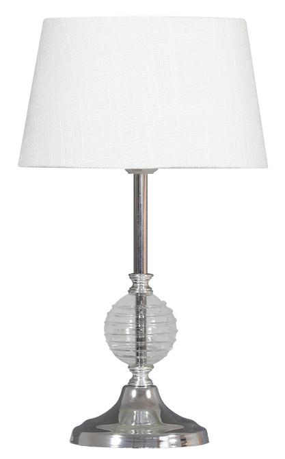 Lampka stołowa gabinetowa bezbarwna Fero 41-95046