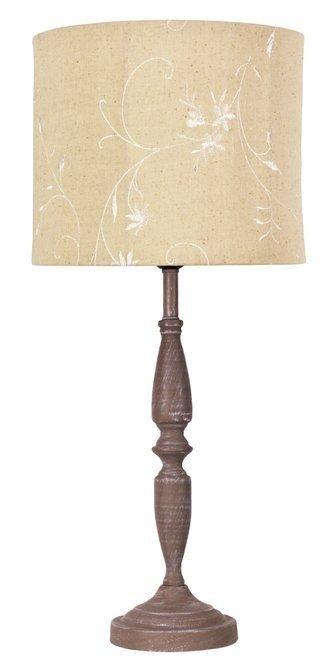 Lampka stołowa gabinetowa beżowa 60W E27 Safari 41-03393