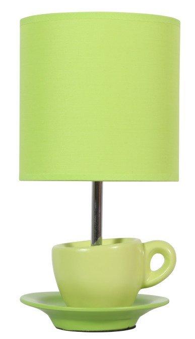 Lampka stołowa gabinetowa pistacja Cynka 41-34830