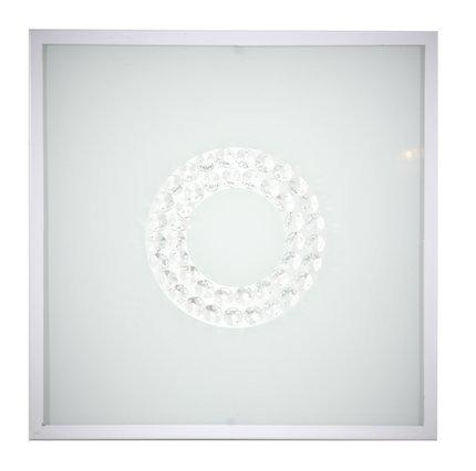 Plafon biały szklany kwadratowy LED 16W 4000K 29x29cm Lux Candellux 10-64486