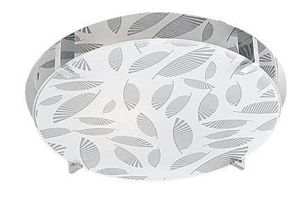 Plafon chrom/biały okrągły 30cm Fikus 13-12944