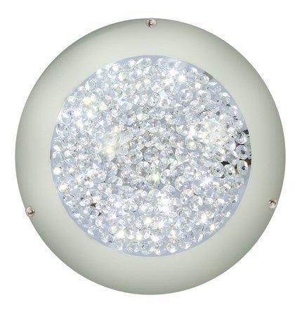 Plafon szklany z kryształkami LED 3000K Pristina 13-52551