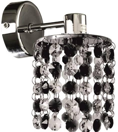 Kinkiet ścienny chromowy z kryształkami czarno-białymi Royal Candellux 21-36240