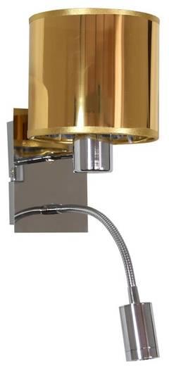 Kinkiet złoty / chrom z wyłącznikiem E14 + LED Sylwana Candellux 21-29287