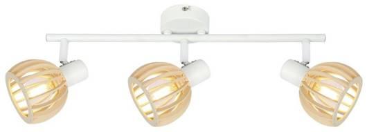 LAMPA ŚCIENNA  CANDELLUX ATARRI 93-68095 LISTWA  E14 BIAŁY+DREWNO