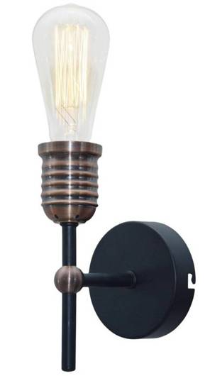 LAMPA ŚCIENNA KINKIET CANDELLUX KIRIMU 21-66879  E27 CZARNY