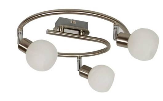 LAMPA SUFITOWA  CANDELLUX ALABASTER 98-07032 SPIRALA  G9 SATYNA+CHROM