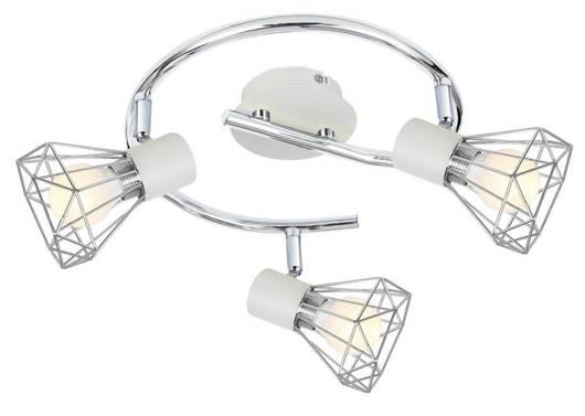LAMPA SUFITOWA  CANDELLUX VERVE 98-61355 SPIRALA  E14 BIAŁY ABAŻUR CHROM