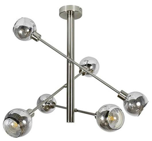 LAMPA SUFITOWA WISZĄCA CANDELLUX MIGO 36-72481 SZTYCA  E14 LED SATYNA