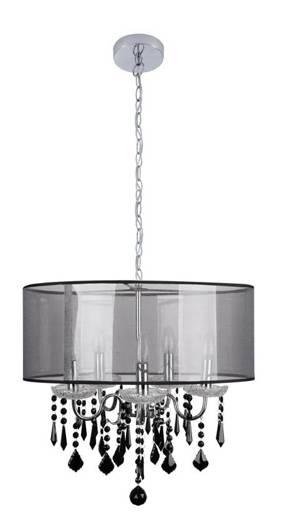 LAMPA SUFITOWA WISZĄCA CANDELLUX SOTTILE 35-73938 CZARNY/CHROMOWY