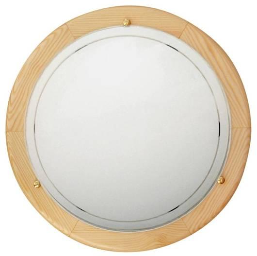Lampa Sufitowa Candellux 1030 13-32259 Plafon Drewno Standard E27 Sosna