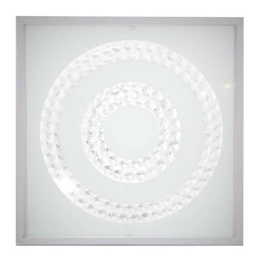 Lampa Sufitowa Candellux Lux 10-64516 Plafon 16W Led 4000K Satyna Podwójny Ring