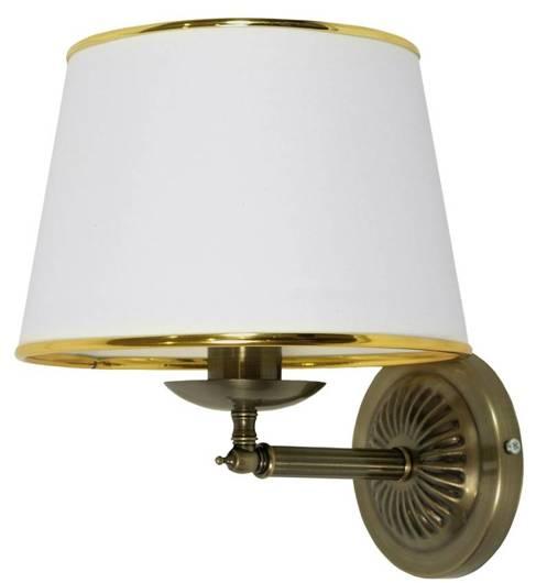 Lampa ścienna kinkiet 1X40W E14 patynowy GRAND 21-99337